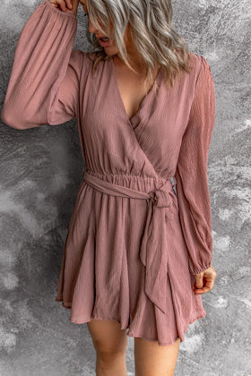 faded red summer dress