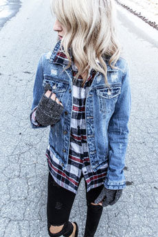 fur-lined flannel shirt