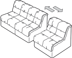 Sofa Connector with Triangle Plate