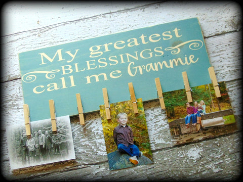 Personalized Gift For Mom, Grandmother Sign, Picture Board Display