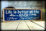 Personalized Camp Sign, Rustic River House Sign, Housewarming Gift