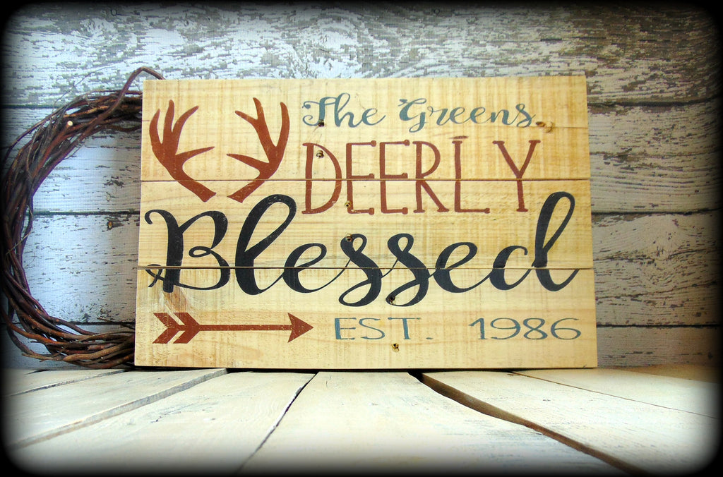 Personalized Last Name Sign Rustic Wooden Pallet Sign