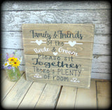 Rustic Wedding Reception Table Seating Sign