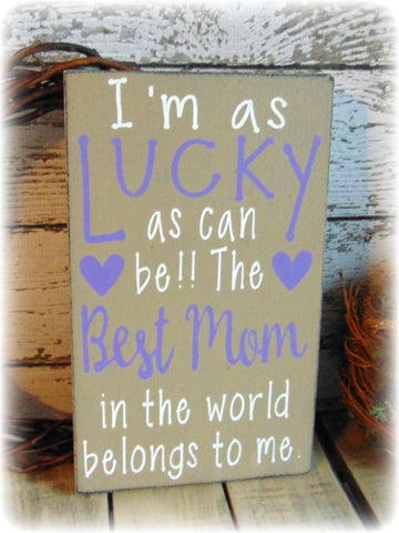 Best Mom Ever Country Rustic Home Decor Gifts For Her Mom Plaque