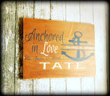 Personalized Wedding Sign, Beach Theme, Nautical Home Decor