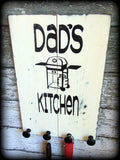 Funny Gift For Dad, Dad's Kitchen Sign, Utensil Holder, Custom Wooden Sign