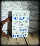 Unique Gift For Son, Father Son Sign, Mother Son Sign, Gifts For Him, Rustic Wooden Handmade Plaque