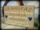 Funny Gift For Grandpa, Handmade Wooden Sign, Rustic Wood Home Decor, Grandpa Sign, Grandfather Plaque