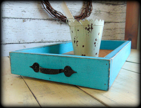 Farmhouse Style Ottoman Tray, Custom Home Decor, Coffee Table Tray, Breakfast Serving Tray
