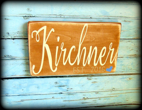Rustic Wooden Sign, Custom Wedding Gift, Personalized Plaque