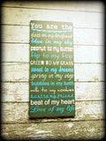 Romantic Wall Art Wedding Sign Love Quote