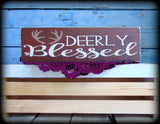 Rustic Wooden Woodland Theme Decor Deer Sign