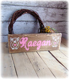 Personalized Baby Shower Gift, Custom Wooden Name Sign, Owl Decor, Woodland Theme Sign