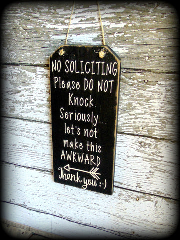 Funny Front Door Sign No Soliciting Sign Custom Wooden Sign Housewarming Gift & Funny Front Door Sign No Soliciting Sign Custom Wooden Sign ...