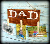 Handmade Wooden Sign For Dad, Wooden Picture Board Display