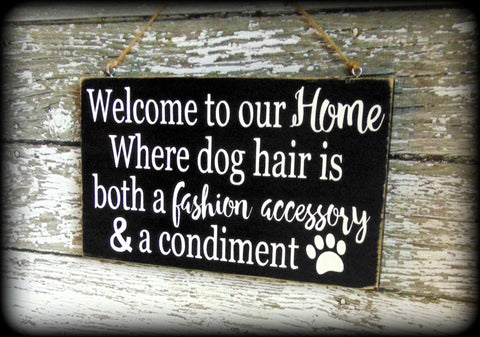 Funny Dog Sign, Pet Lover Gift, Welcome Sign, Custom Wooden Wall ...