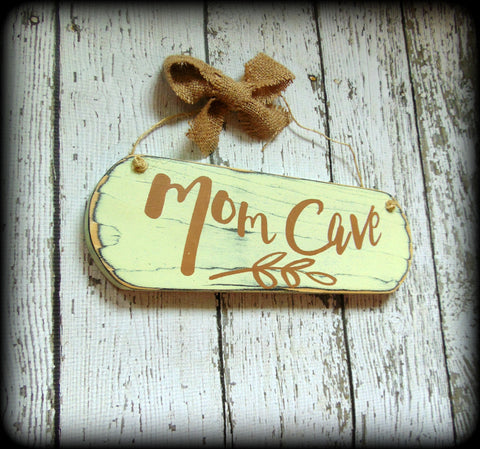 Rustic Mother's Day Gift - Wood Sign - Mom Cave Sign - Craft Room Decor - Sewing Room Sign