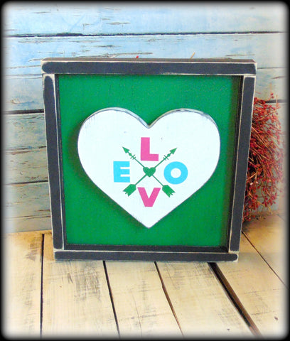 Handmade Wooden Sign, Love Decor, Valentines Day Gift, Boho Style Home Decor, Arrow Plaque