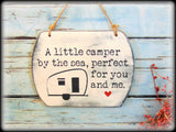 Vintage Camper Sign, Rustic Cottage Decor, Camp Plaque