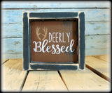 Affordable Gift, Deer Sign, Wildlife Wall Art, Woodland Shelf Sitter