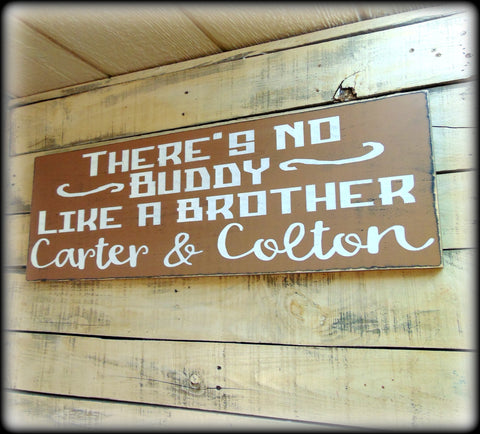 Personalized Gift For Brothers, Rustic Wooden Wall Decor, Custom Wooden Sign, Boys Room Decor