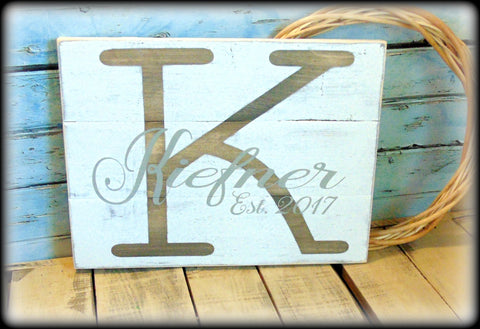 Personalized Family Name Sign, Wedding Gift, Custom Wooden Plaque