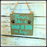 Funny Beware Of Dog Sign, Handmade Wooden Front Door Home Decor