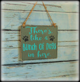 Funny Beware Of Dog Sign, Handmade Wooden Front Door Decor
