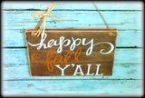 Happy Fall Sign, Rustic Autumn Home Decor, Front Door Plaque