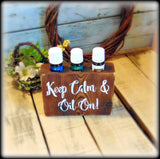 Funny Essential Oil Sign, Essential Oil Party Display, Rustic Essential Oil Holder