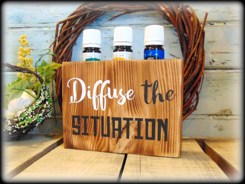 Funny Essential Oil Sign, Oil Storage Rack, Essential Oil Display