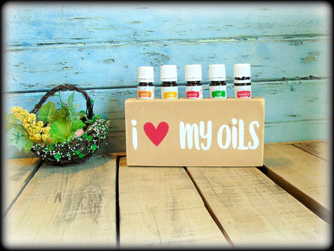 I love my oils, Essential Oil Storage Block