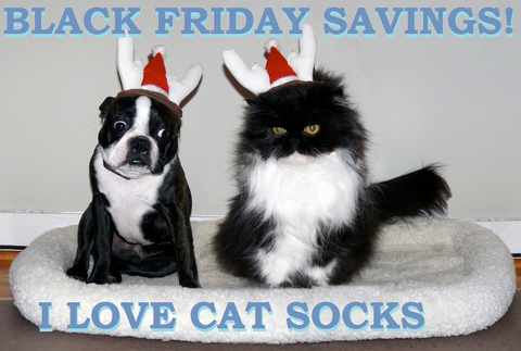BLACK FRIDAY SAVINGS FROM I LOVE CAT SOCKS