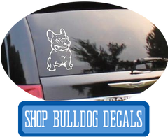 Bulldog Car Decals at I Love Cat Socks