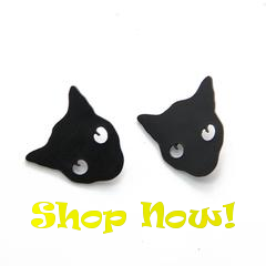 punk cat collar pins at i love cat socks