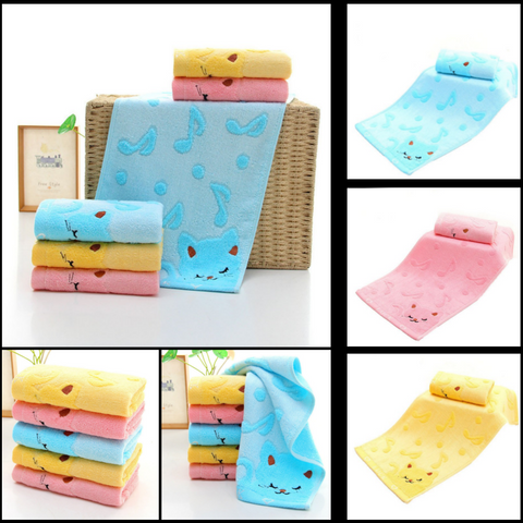 Cute Cat Towels at I Love Cat Socks