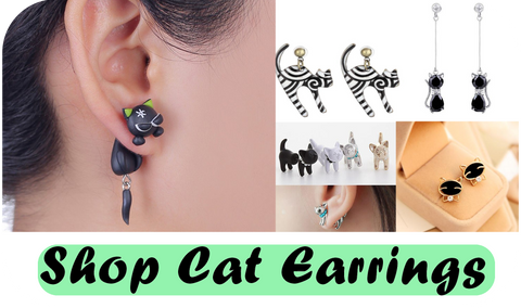 shop cat earrings at i love cat socks