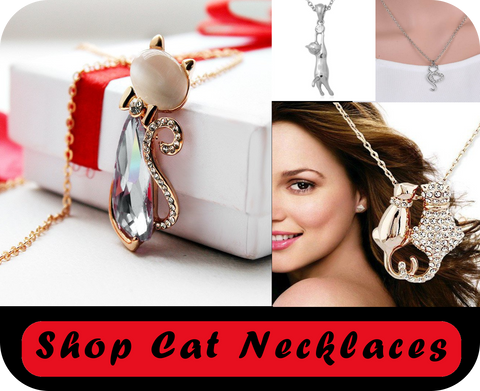 shop cat necklaces at i love cat socks