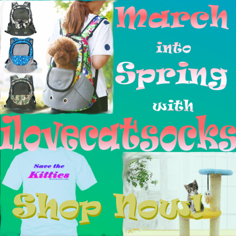 march into spring with i love cat socks deals spring 2017