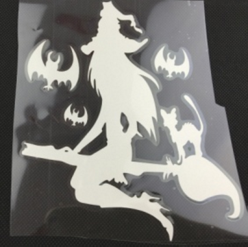 Witch And A Cat Car Decal