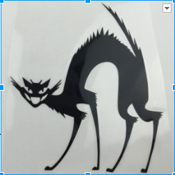 Image of Evil Cat Car Decal - I Love Cat Socks