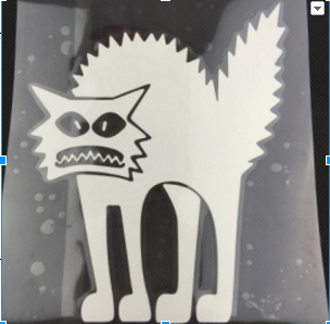 Scared Cat Car Decal