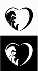 Animal Love Car Decal