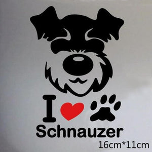 Schnauzer Dog Car Decal