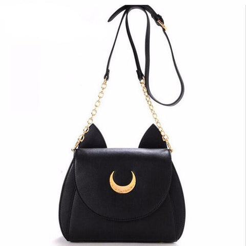Image of Elegant Luna Cat Leather Bag - I Love Cat Socks