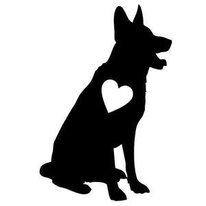 Love German Shepherd Car Decal