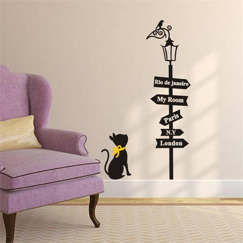 Lost Cat Wall Sticker