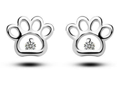 Cute Cat Paw Print Stud Earrings