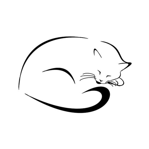 Sleepy Cat Car Decal