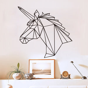 Geometric Unicorn Horse Wall Sticker